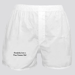 Four Corners Girl Boxer Shorts