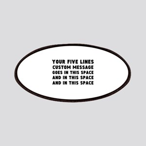 Five Lines Text Customized Patch