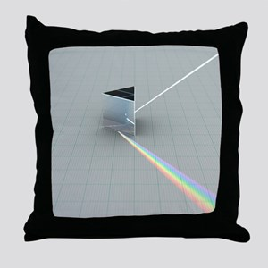 Glass Prism refracting colour spectrum - Throw Pil