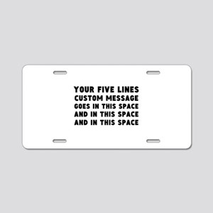 Five Lines Text Customized Aluminum License Plate
