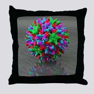 Hepatitis B virus, artwork - Throw Pillow