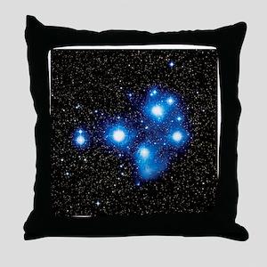 Optical image of the Pleiades star cluste - Throw