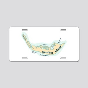 Sanibel Island - Map Design. Aluminum License Plat