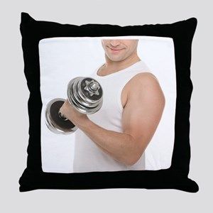Lifting weights - Throw Pillow