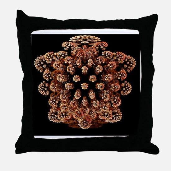 Mandelbulb fractal - Throw Pillow