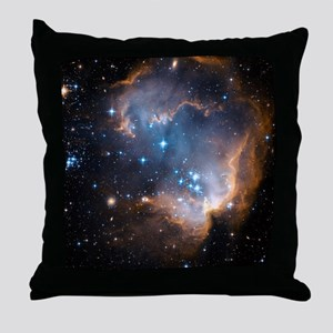 Starbirth region NGC 602 - Throw Pillow