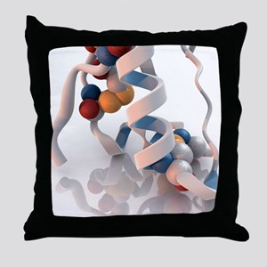 Insulin molecule - Throw Pillow