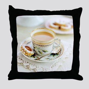 Tea and biscuits - Throw Pillow