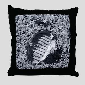 Apollo bootprint on the Moon - Throw Pillow