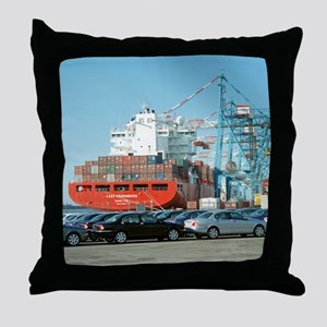 Container ship - Throw Pillow