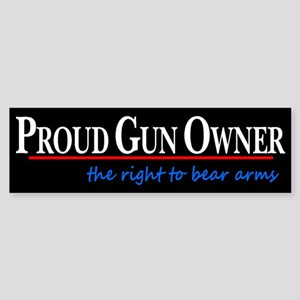 Proud Gun Owner Sticker (Bumper)