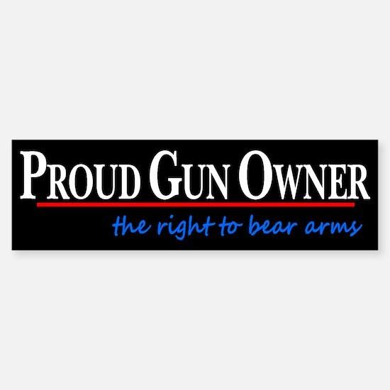 Proud Gun Owner Sticker (Bumper)