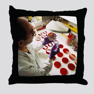 Bacterial research - Throw Pillow