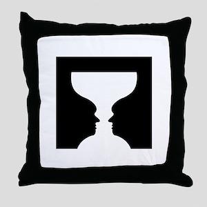 Goblet illusion - Throw Pillow
