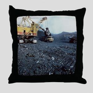 Open cast coal mining - Throw Pillow
