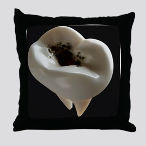 Tooth decay, artwork - Throw Pillow