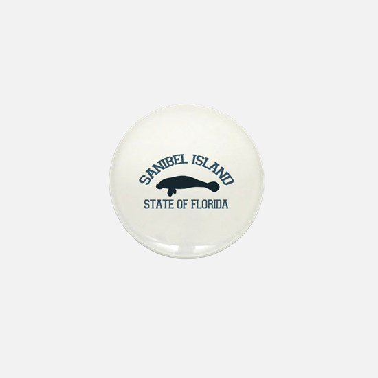Sanibel Island - Manatee Design. Mini Button