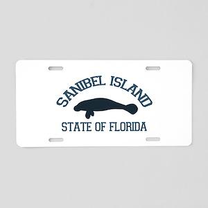 Sanibel Island - Manatee Design. Aluminum License