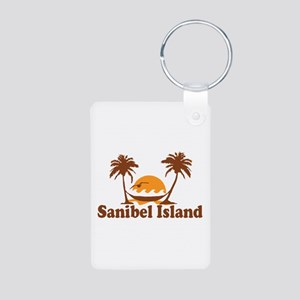 Sanibel Island - Palm Trees Design. Aluminum Photo