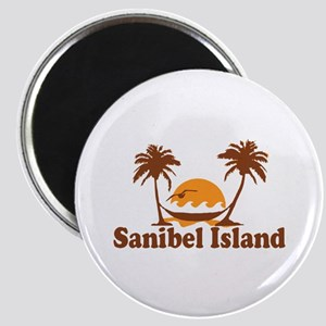 Sanibel Island - Palm Trees Design. Magnet