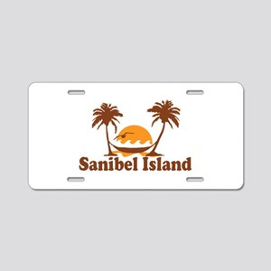 Sanibel Island - Palm Trees Design. Aluminum Licen