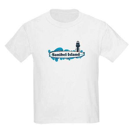 Sanibel Island Surf Design Kids Light T Shirt Sanibel