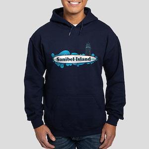 Sanibel Island - Surf Design. Hoodie (dark)