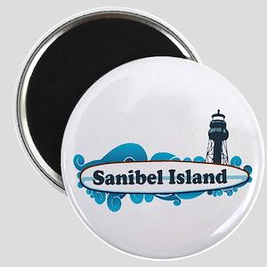 Sanibel Island - Surf Design. Magnet