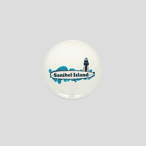 Sanibel Island - Surf Design. Mini Button