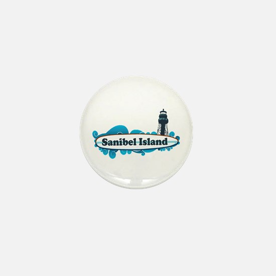 Sanibel Island - Surf Design. Mini Button
