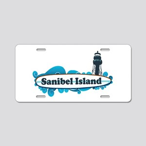 Sanibel Island - Surf Design. Aluminum License Pla