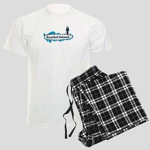 Sanibel Island - Surf Design. Men's Light Pajamas
