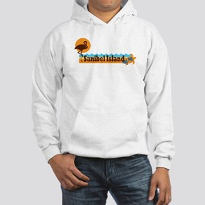 Sanibel Island - Beach Design. Hooded Sweatshirt