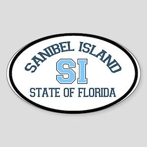 Sanibel Island - Oval Design. Sticker (Oval)