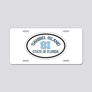 Sanibel Island - Oval Design. Aluminum License Pla