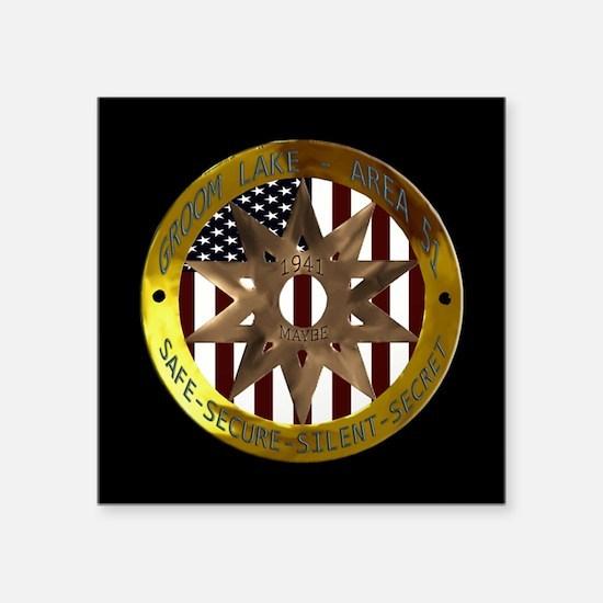 "Area 51 SSSS Badge Square Sticker 3"" x 3&quot"