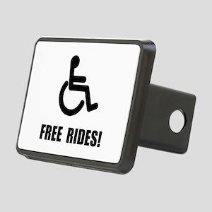Handicap Free Rides Rectangular Hitch Cover