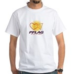 PFLAG Blue Ridge Logo White T-Shirt
