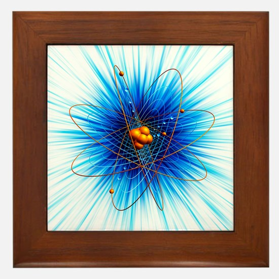 Atomic structure, artwork - Framed Tile