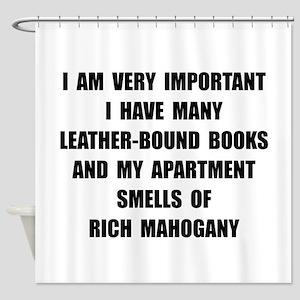 VIP Mahogany Shower Curtain