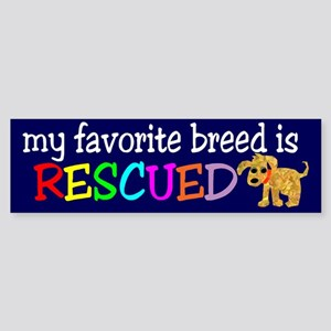 Rescue Dog Sticker (Bumper)
