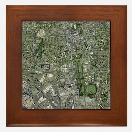 Southampton,UK, aerial image - Framed Tile