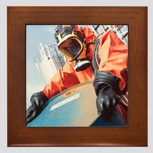Toxic chemical treatment - Framed Tile