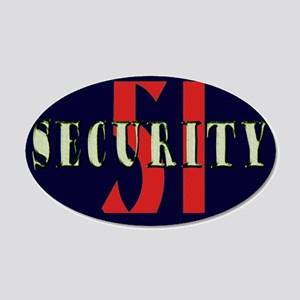 Area 51 Security 20x12 Oval Wall Decal