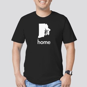 Home Men's Fitted T-Shirt (dark)