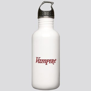 Vampire Graphic Text Design Stainless Water Bottle