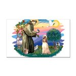 St.Francis #2/ Afghan Hound Rectangle Car Magnet