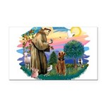 St Francis #2/ Airedale Rectangle Car Magnet