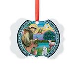 St Francis/Am Eskimo #3 Picture Ornament