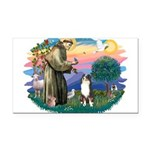 St.Francis #2/ Aus Shep (tri) Rectangle Car Magnet